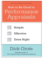 How to Be Good at Performance Appraisals