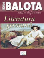 Literatura germană. De la Sturm-und-Drang la zilele noastre