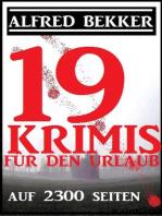 19 Krimis für den Urlaub auf 2300 Seiten