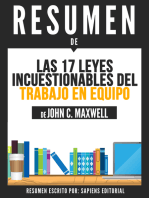 Las 17 Leyes Incuestionables Del Trabajo En Equipo (The 17 Essential Qualities Of A Team Player) - Resumen Del Libro De John C. Maxwell