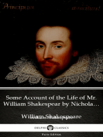 Some Account of the Life of Mr. William Shakespear by Nicholas Rowe (Illustrated)
