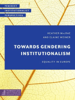 Towards Gendering Institutionalism: Equality in Europe