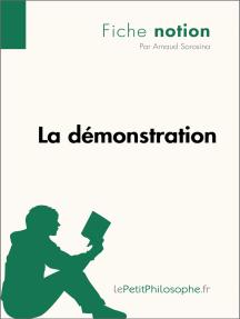 La démonstration (Fiche notion): LePetitPhilosophe.fr - Comprendre la philosophie