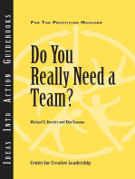 Do You Really Need a Team?