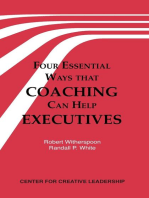 Four Essential Ways that Coaching Can Help Executives