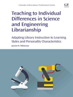 Teaching to Individual Differences in Science and Engineering Librarianship: Adapting Library Instruction to Learning Styles and Personality Characteristics