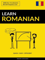 Learn Romanian: Quick / Easy / Efficient: 2000 Key Vocabularies