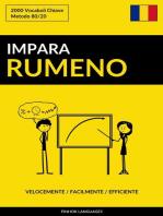 Impara il Rumeno: Velocemente / Facilmente / Efficiente: 2000 Vocaboli Chiave