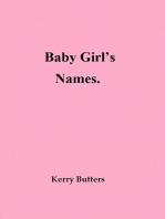 Baby Girl's Names.