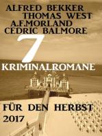 7 Kriminalromane für den Herbst 2017