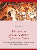 Beiträge zur jüdisch-deutschen Sprachgeschichte