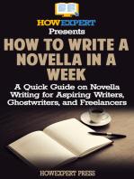 How to Write a Novella in a Week