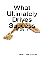 What Ultimately Drives Success - (Part 1)