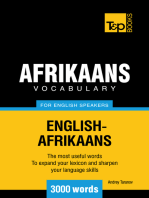 Afrikaans vocabulary for English speakers: 3000 words