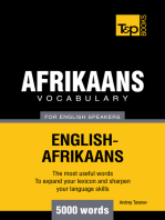 Afrikaans vocabulary for English speakers: 5000 words