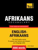 Afrikaans vocabulary for English speakers: 9000 words