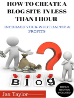 Create A Blog Site in Less Than 1 Hour