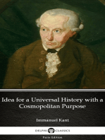 Idea for a Universal History with a Cosmopolitan Purpose by Immanuel Kant - Delphi Classics (Illustrated)