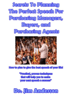 Secrets To Planning The Perfect Speech For Purchasing Managers, Buyers, and Purchasing Agents
