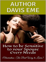 How to be Sensitive to your Spouse Every Needs (Observation
