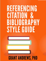 Referencing, Citation and Bibliography Style Guide