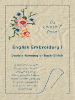 English Embroidery - I - Double-Running or Back-Stitch