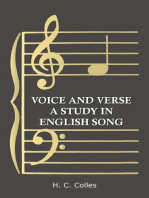 Voice and Verse - A Study in English Song