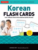 Korean Flash Cards Kit Ebook