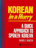 Korean in a Hurry