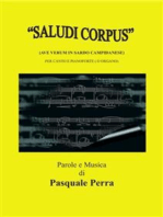 """Saludi Corpus"" (Ave Verum in sardo campidanese) per canto e pianoforte"