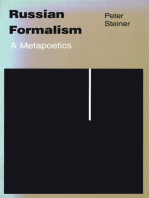 Russian Formalism: A Metapoetics