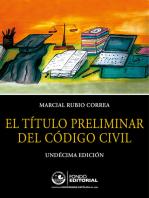 El título preliminar del Código Civil