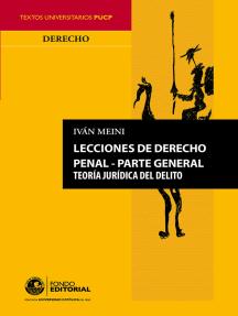 Lecciones de derecho penal: Parte general
