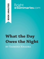 What the Day Owes the Night by Yasmina Khadra (Book Analysis)