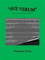 """""""Ave Verum"""" per canto e pianoforte. Versione in Sol maggiore"""