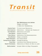 Transit 39. Europäische Revue: Den Säkularismus neu denken