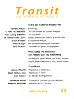 Transit 33. Europäische Revue