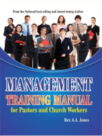 Management Training Manual for Pastors and Church Workers