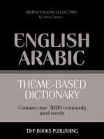 Theme-based dictionary British English-Arabic