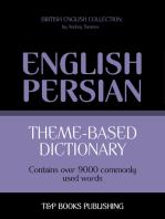 Theme-based dictionary British English-Persian: 9000 words