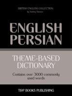 Theme-based dictionary British English-Persian: 3000 words