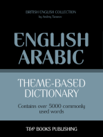 Theme-based dictionary British English-Arabic