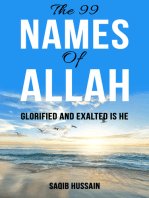 The 99 Names Of Allah (Glorified And Exalted Is He) In Verse