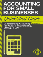Accounting For Small Businesses QuickStart Guide