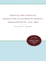 Dispute and Conflict Resolution in Plymouth County, Massachusetts, 1725-1825