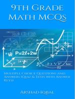 9th Grade Math MCQs