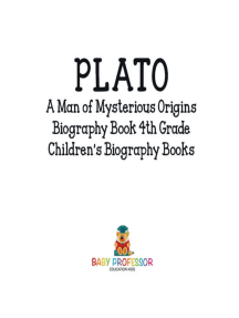 Plato: A Man of Mysterious Origins - Biography Book 4th Grade | Children's Biography Books