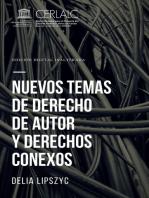 Nuevos temas de derecho de autor y derechos conexos