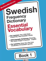 Swedish English Frequency Dictionary - Essential Vocabulary