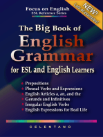 The Big Book of English Grammar for ESL and English Learners: Prepositions, Phrasal Verbs, English Articles (a, an and the), Gerunds and Infinitives, Irregular Verbs, and English Expressions